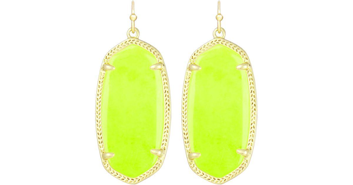 4a050670f0984 Kendra Scott Elle Earrings Neon Yellow