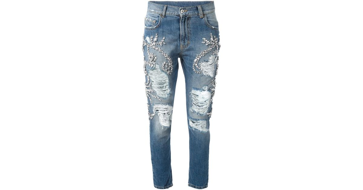 another chance enjoy clearance price size 7 Marco Bologna Blue Crystal Embellished Jeans