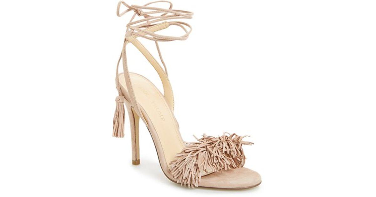 df2fe359970 Ivanka Trump Natural Hettie Fringe and Tasseled Leather Sandals