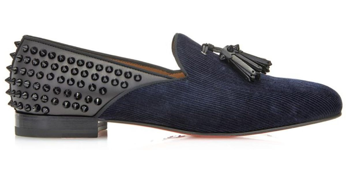 b3b07f079e9 Lyst - Christian Louboutin Tassilo Studded Loafers in Blue for Men