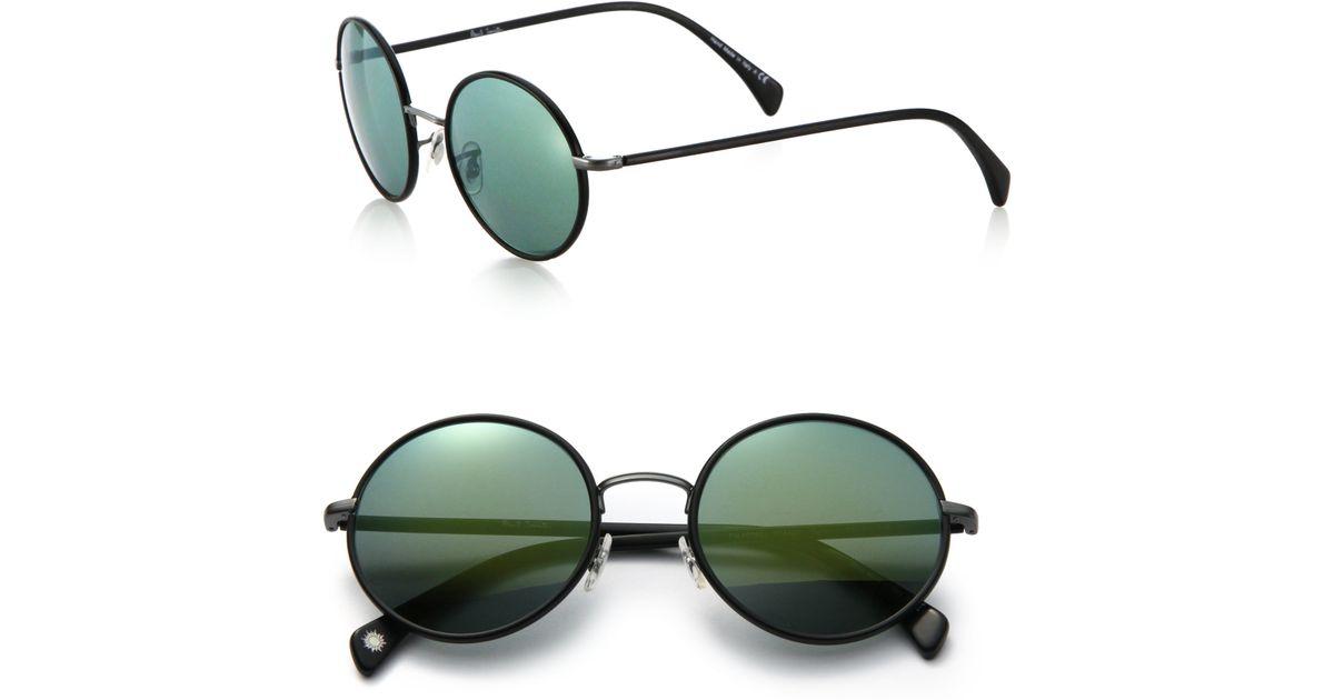 8a32c13853 Lyst - Paul Smith Danbury 53mm Round Sunglasses in Black for Men