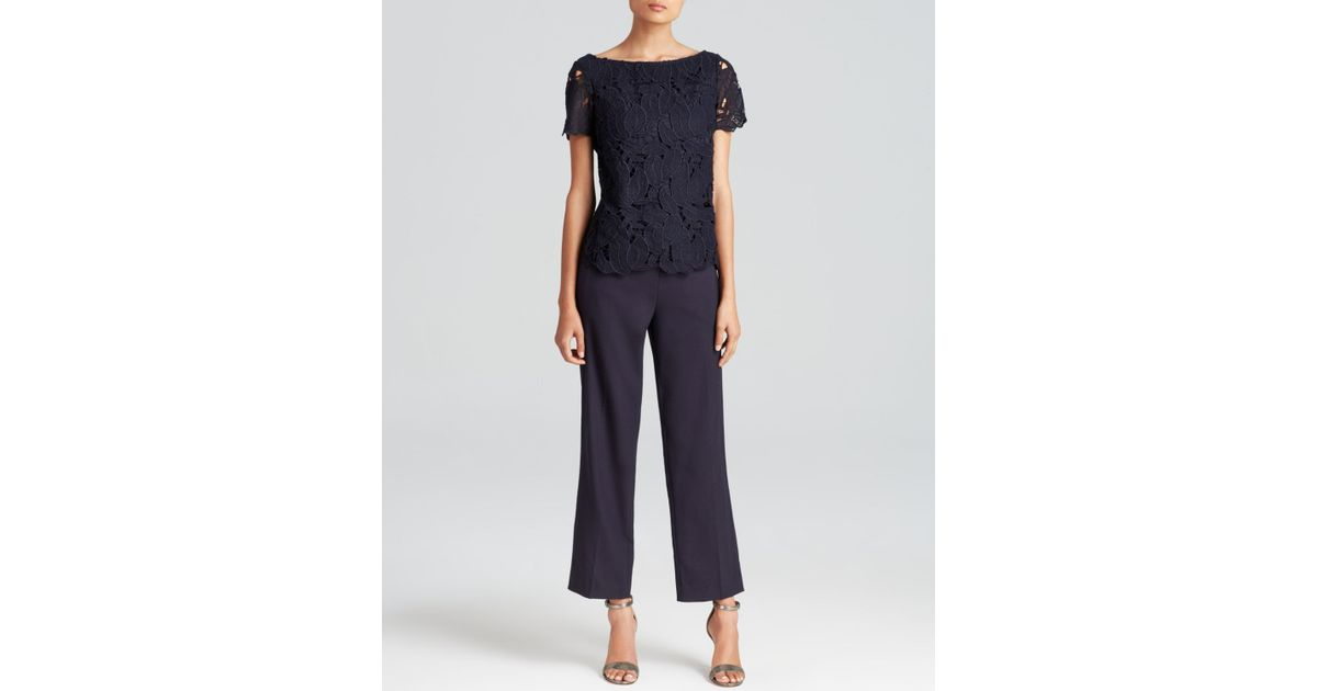 69bf85ef8 Lyst - Tory Burch Avalon Lace Jumpsuit in Blue