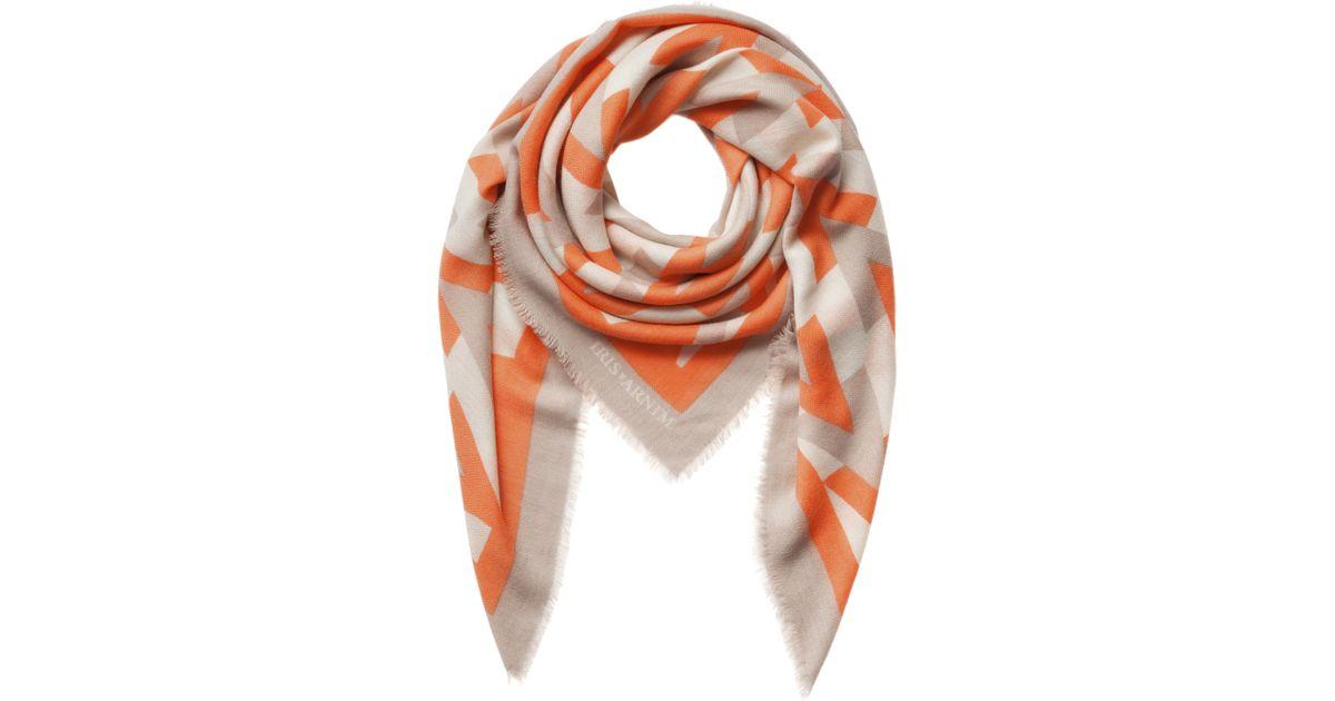 iris von arnim scarf bauhaus in orange tangerine lyst. Black Bedroom Furniture Sets. Home Design Ideas