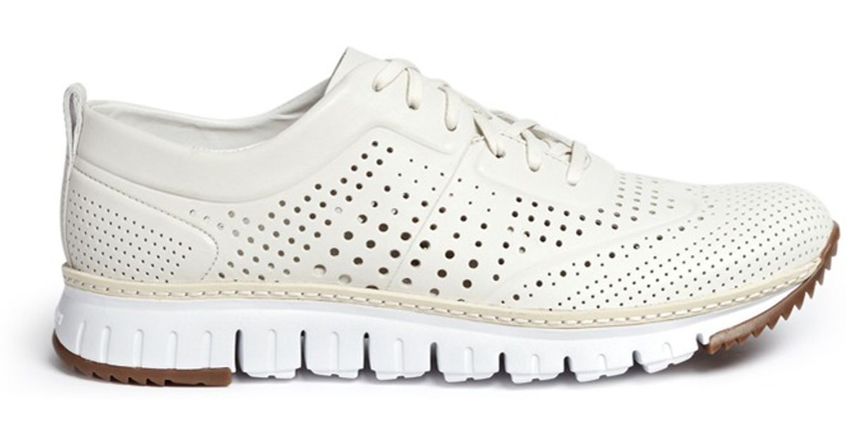 Cole Haan Zerogrand Perforated Leather Sneakers In