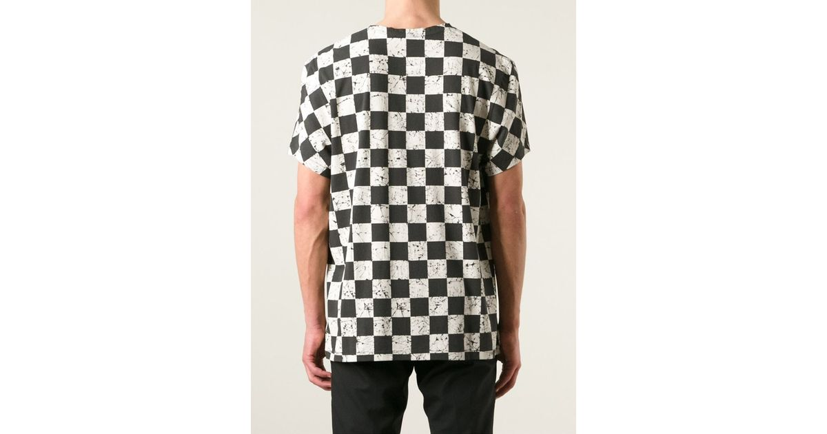 Haider Ackermann Marble Chess Board Print T Shirt In Black For Men Lyst