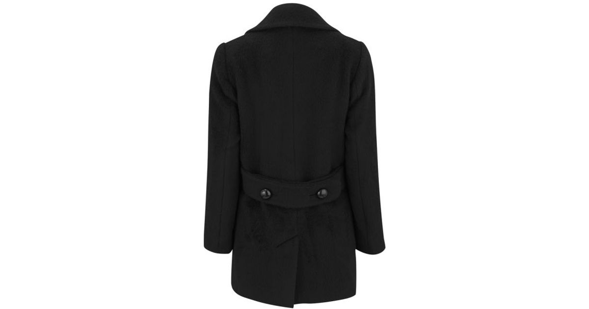 Black Wool Pea Coat Womens - Tradingbasis