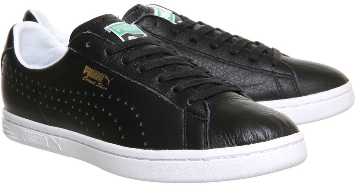 official photos 85940 f4621 PUMA Black Court Star Leather for men