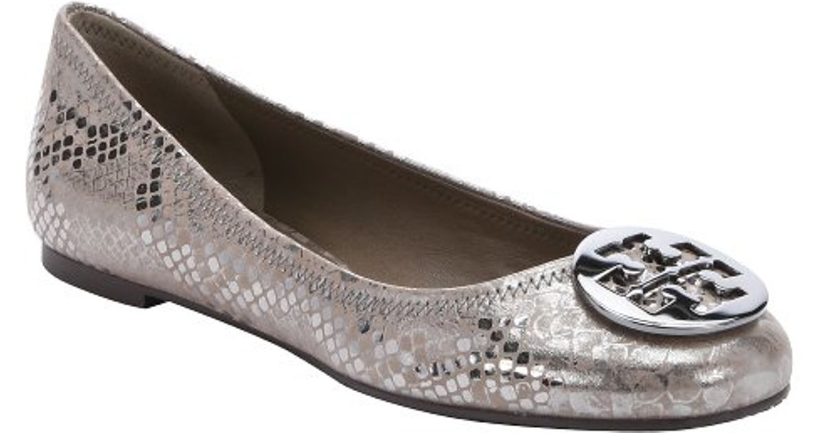 Tory Burch Metallic Logo Flats cheap sale fast delivery RoOysQcL7