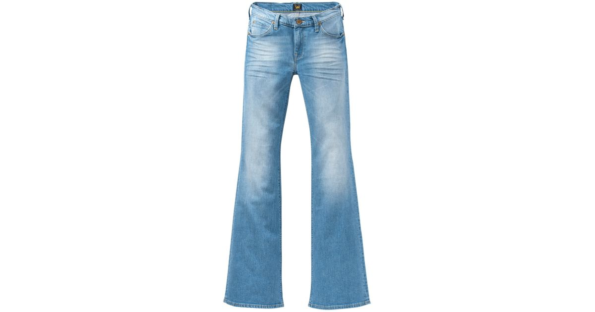 100% top quality beautiful and charming another chance Lee Jeans - Blue Annetta Slim Fit Flared Jeans - Lyst