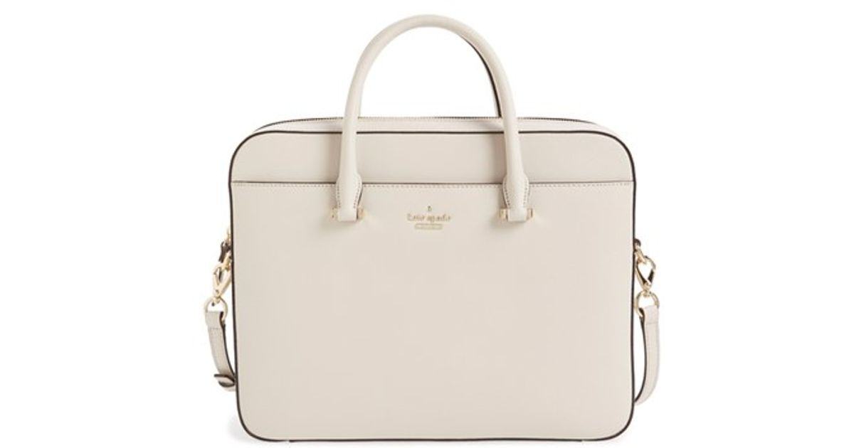 online store 7dbe7 ee247 kate spade new york Natural Saffiano Leather 13 Inch Laptop Bag
