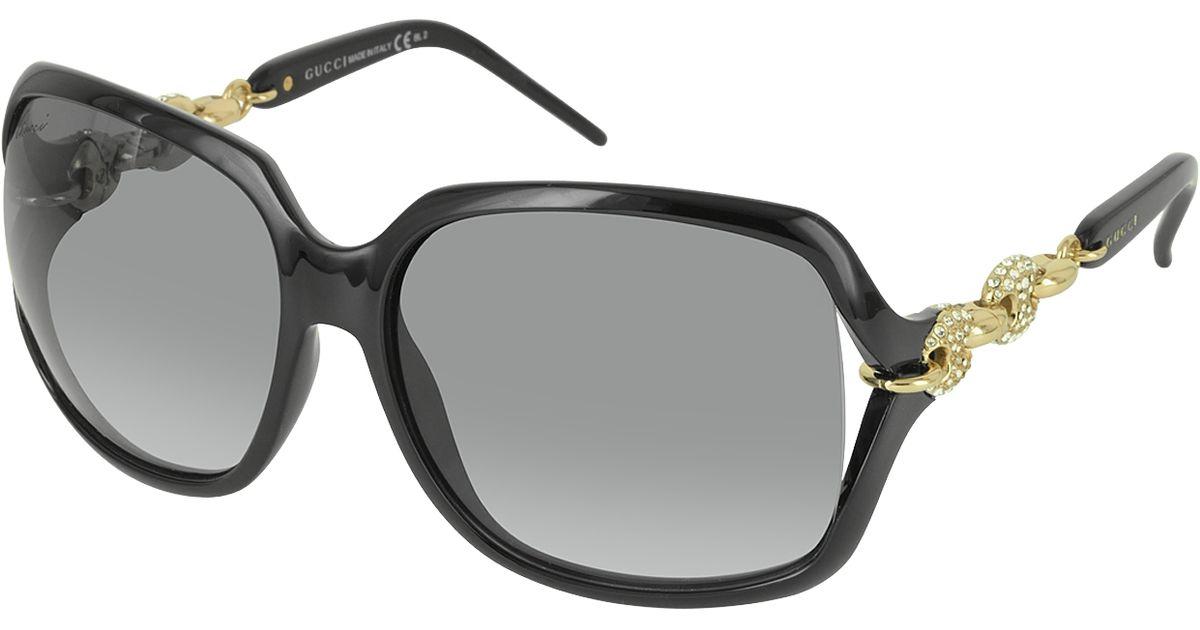 42f5d504bb8 Lyst - Gucci Gg 3584 N s Rewvk Oversize Square Frame Women s Sunglasses in  Black