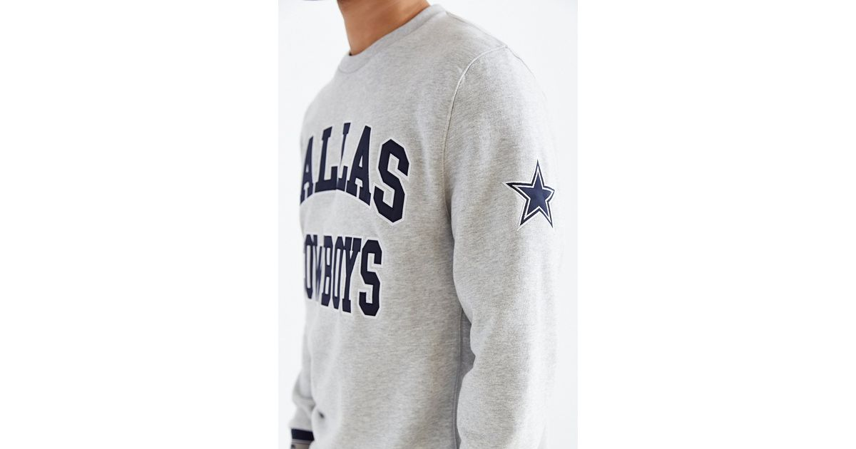 big sale d8975 80a0c Mitchell & Ness Gray Dallas Cowboys Team Sweatshirt for men