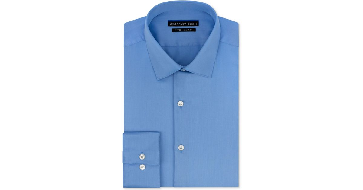 Geoffrey beene men 39 s fitted non iron stretch sateen dress for How to stretch a dress shirt