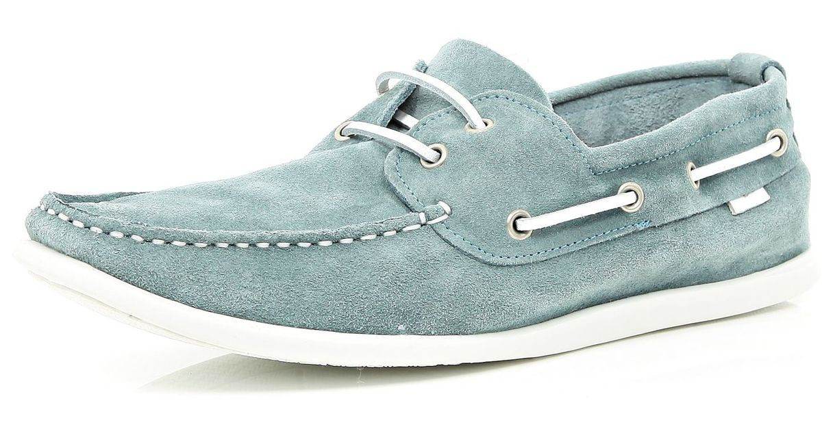 River Island Light Blue Boat Shoes for