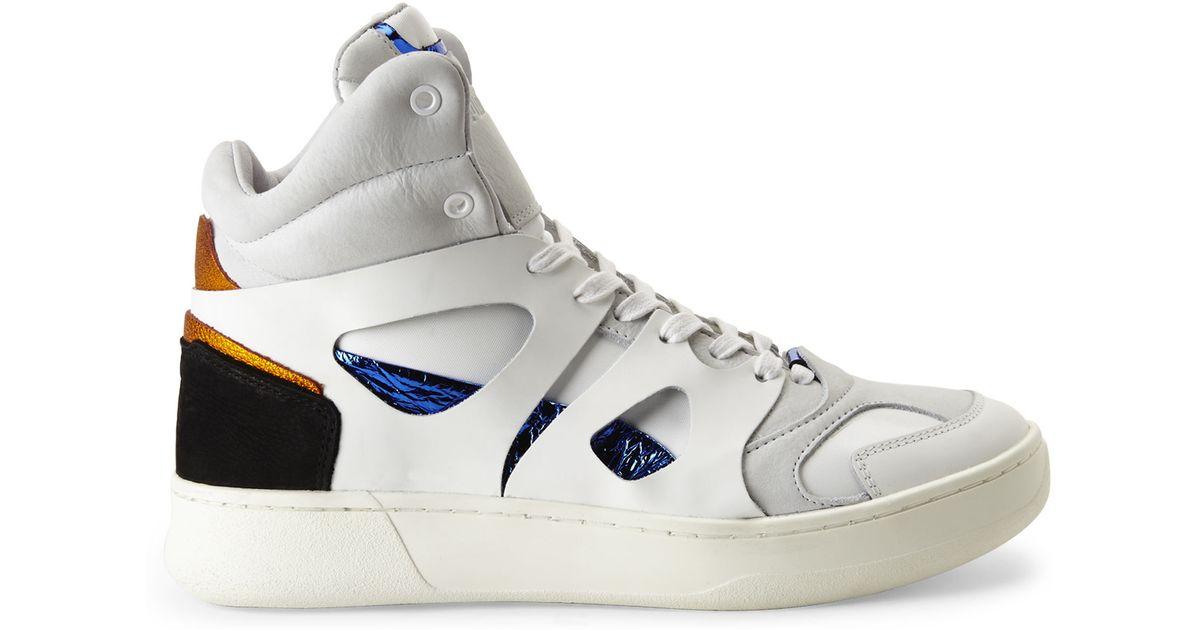 wholesale dealer 2fdbc 0ab7d PUMA Multicolor X Mcq By Alexander Mcqueen White Mid Move Sneakers for men
