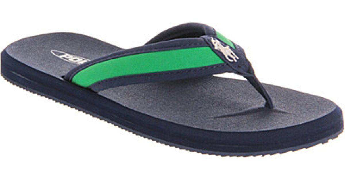 d6cead1f509ce Ralph Lauren Almer Ii Canvas Flip Flops - For Men in Green for Men - Lyst