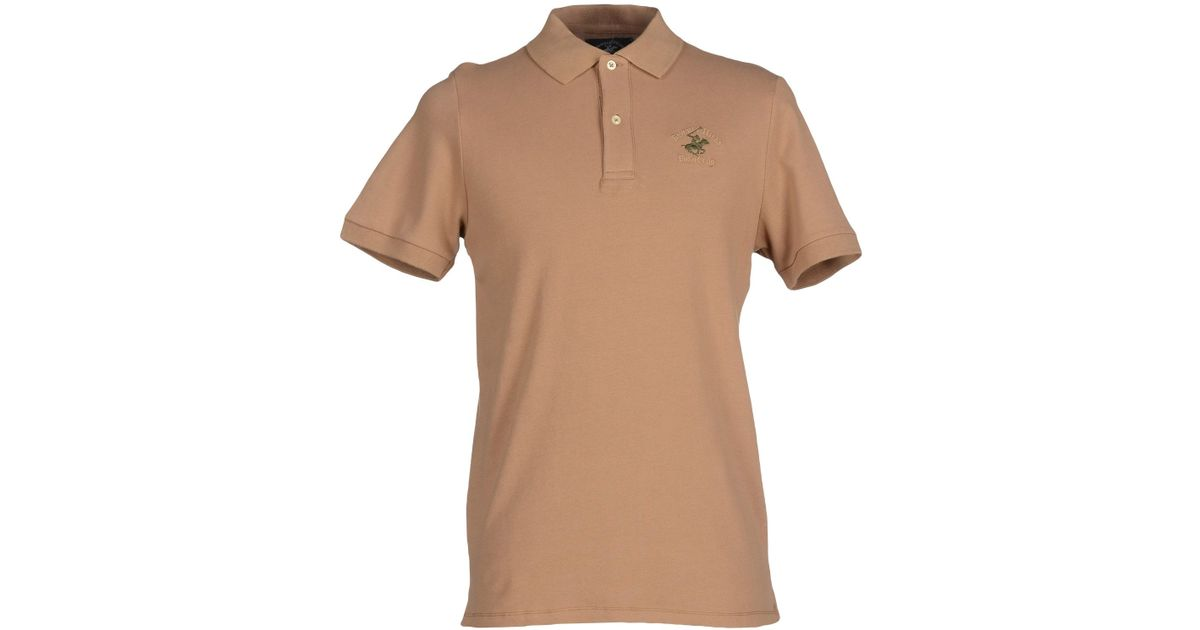 Beverly Hills Polo Club Polo Shirt In Brown For Men Camel