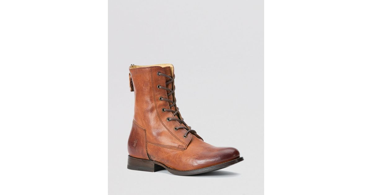 Lastest Frye Veronica Combat Lace Up Boots In Black  Lyst