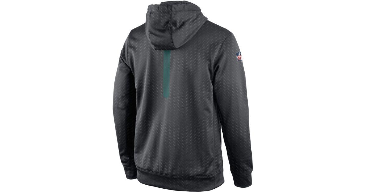 best website 3d5de f9fbd Nike Gray Men's Philadelphia Eagles Sideline Ko Fleece Hoodie for men