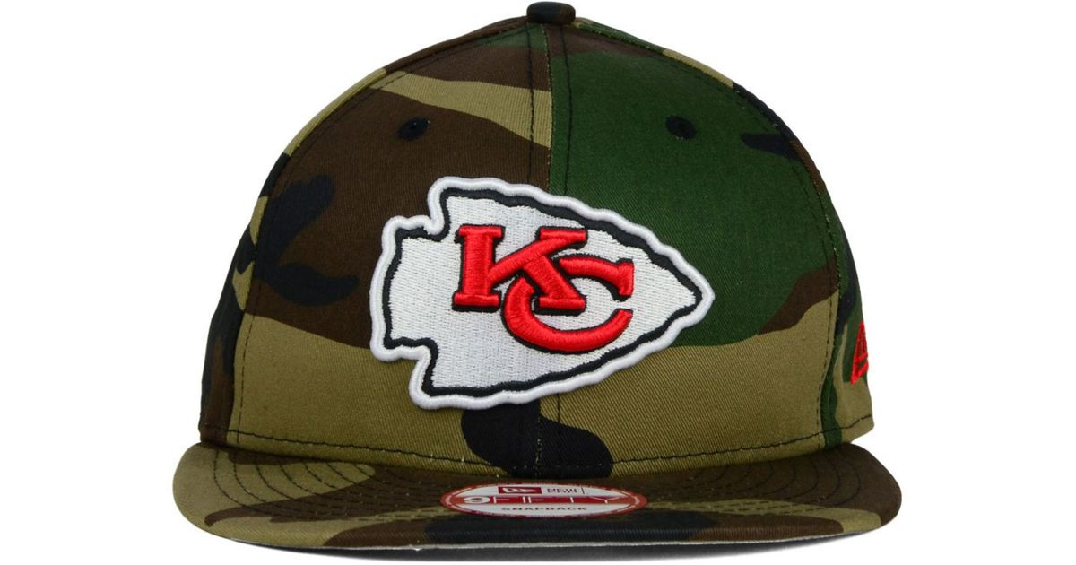 free shipping 85164 356c8 Lyst - KTZ Kansas City Chiefs Woodland Camo Team Color 9fifty Snapback Cap  in Green for Men