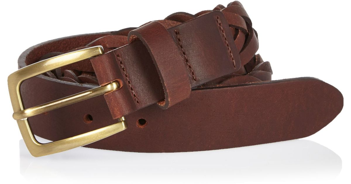 river island brown woven belt in brown lyst