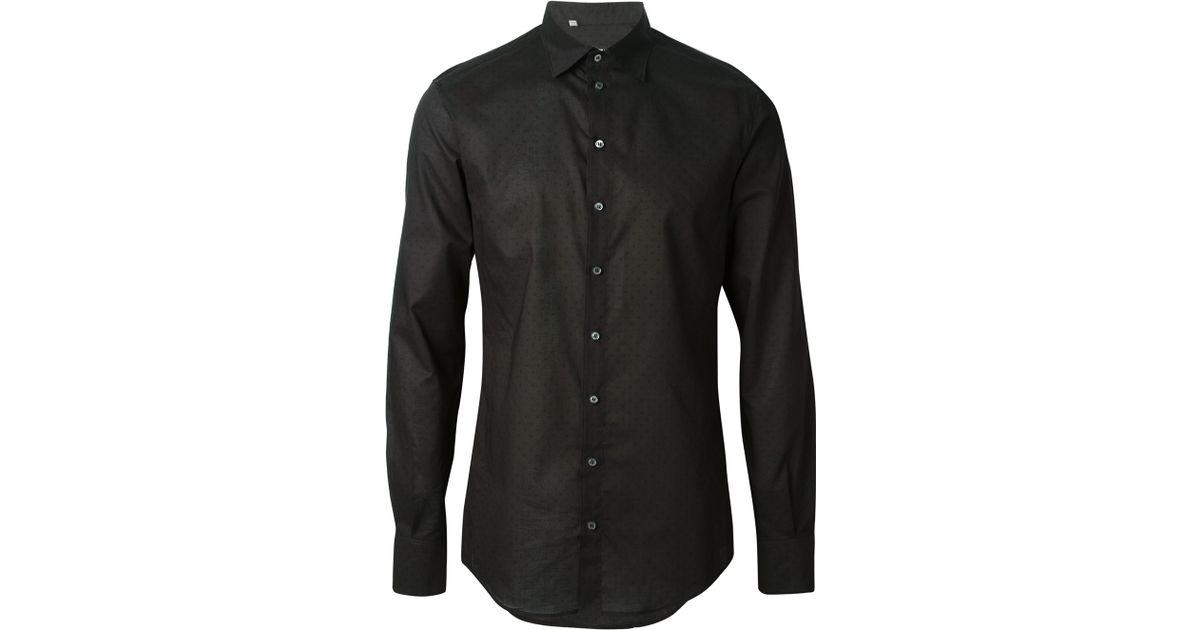 collared shirt black