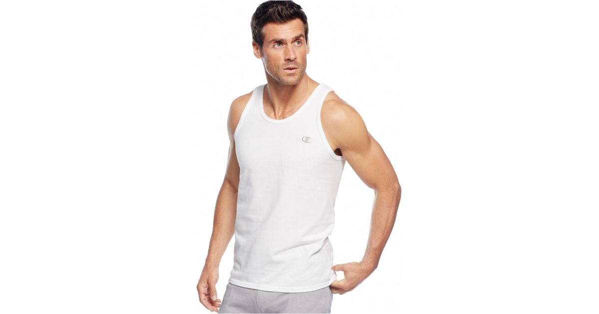 Clothes Ringer 2015 ~ Champion men s jersey ringer tank in white for save