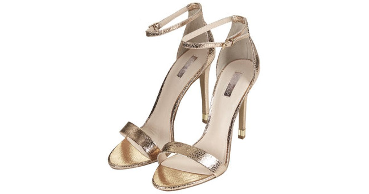01d366ef072 TOPSHOP Pink Ruby Metallic High Sandals
