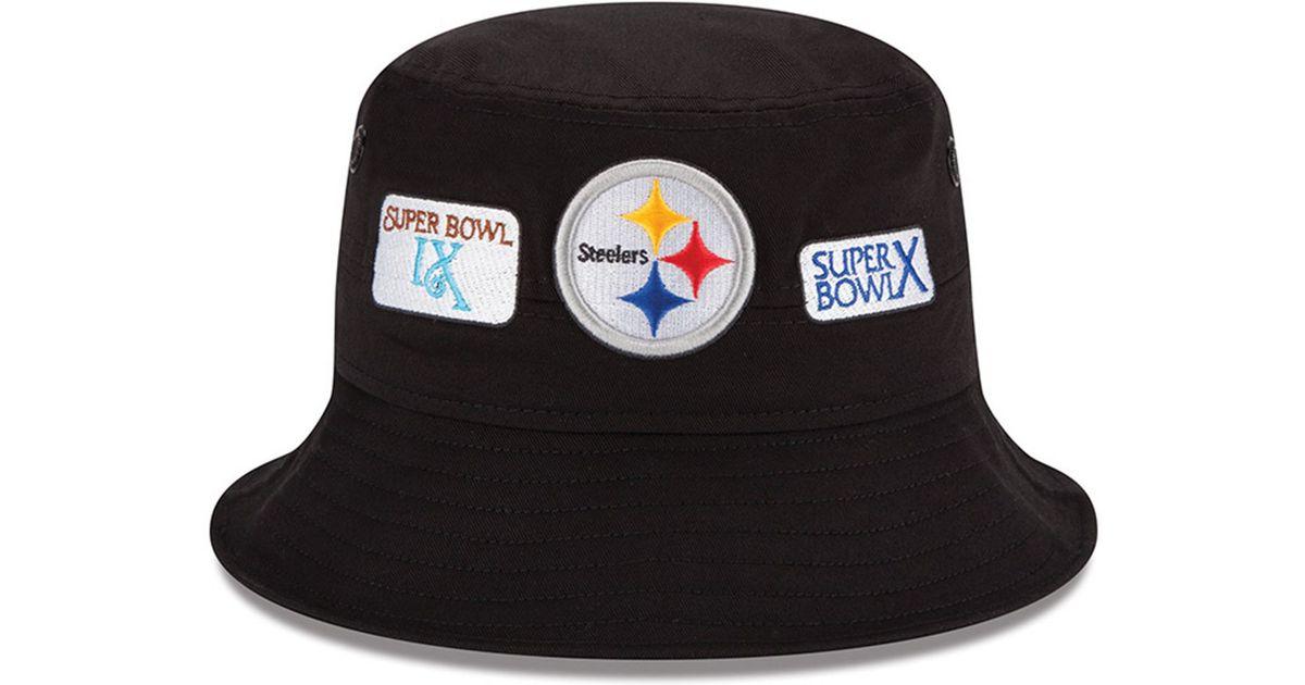 Lyst - KTZ Pittsburgh Steelers Multi Super Bowl Champ Bucket Hat in Black  for Men b521a0d53