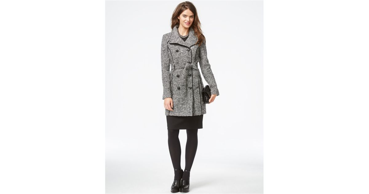 GUESS Womens Clinton Oversized Textured Coat