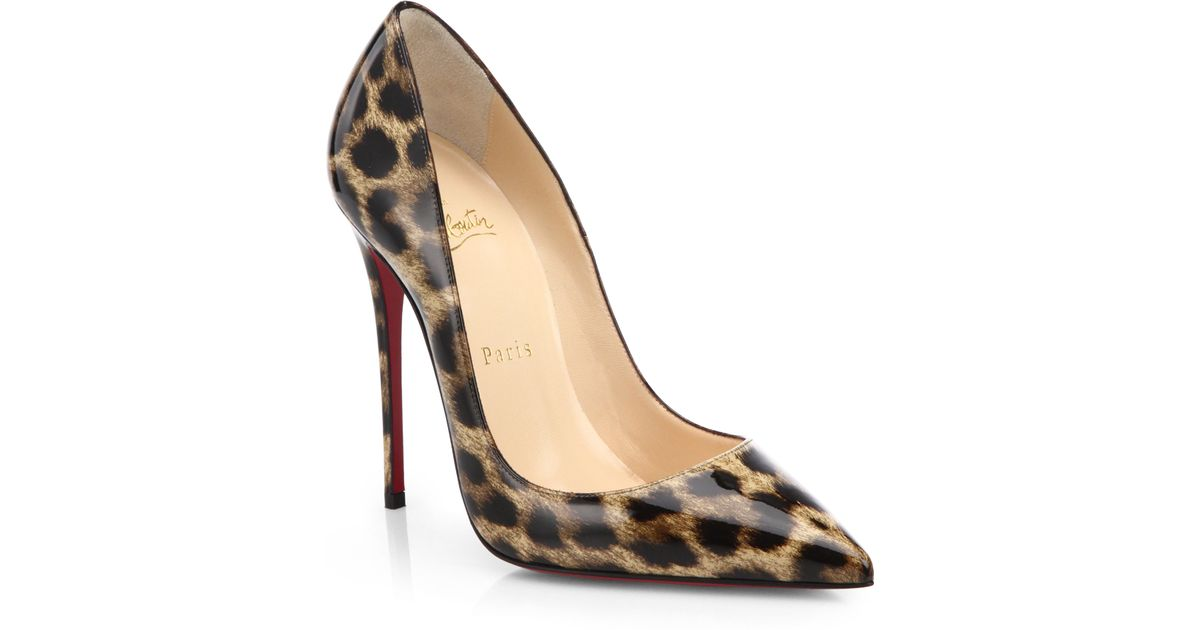 premium selection 600bf 05f7c Christian Louboutin Multicolor So Kate Leopard-Print Patent Leather Pumps