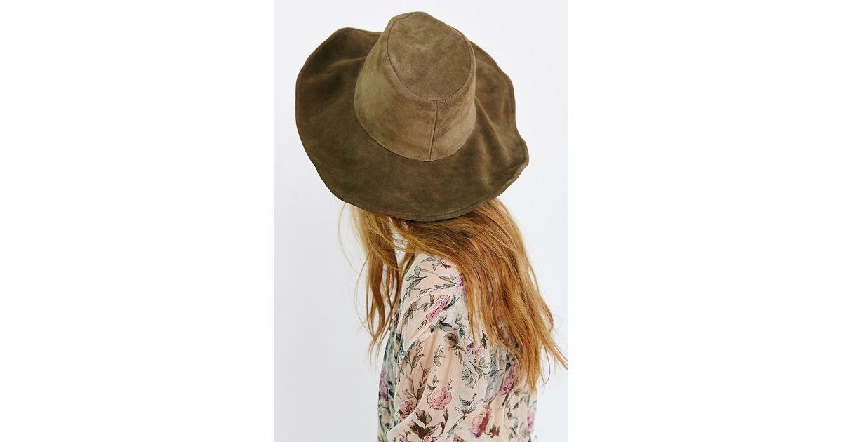 Lovely Bird Green Suede Bohemian Panama Hat