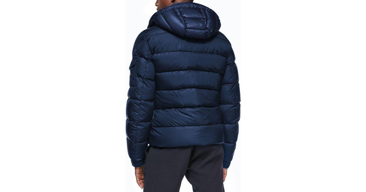 reputable site e4baf c703d Moncler Blue Himalaya Puffer Jacket With Hood for men