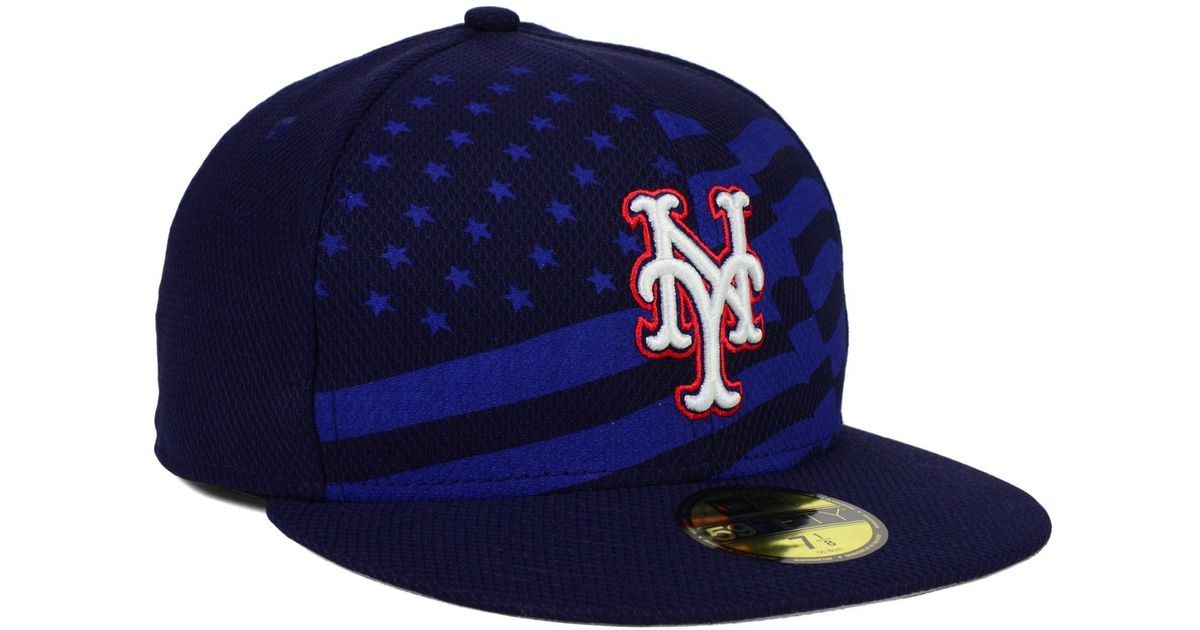 a10409a1ee1 Lyst - KTZ New York Mets July 4th Stars   Stripes 59fifty Cap in Blue for  Men