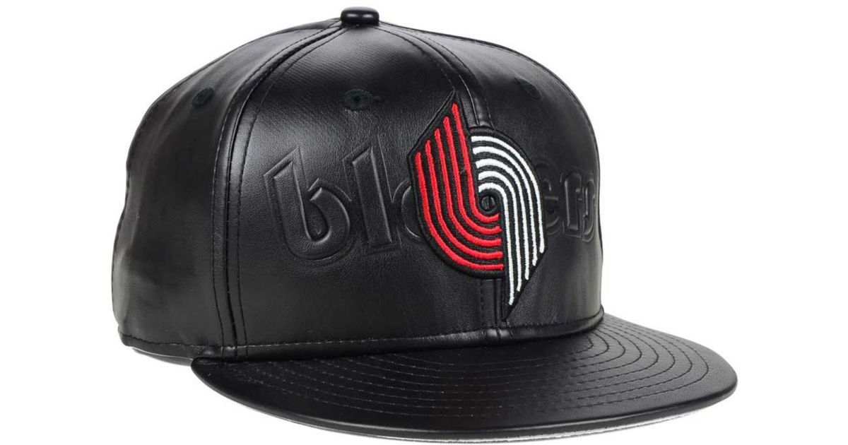 lowest price good detailed pictures KTZ Portland Trail Blazers Stamp 9fifty Snapback Cap in Black for ...