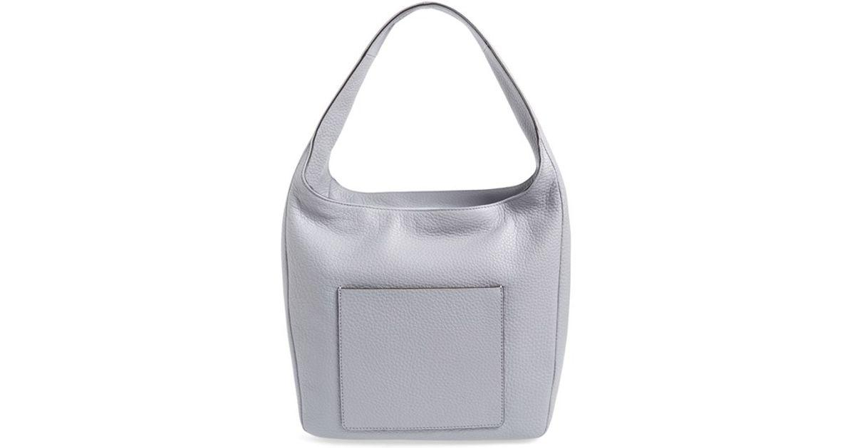 0863fa94b92e Lyst - MICHAEL Michael Kors Large Lena Leather Hobo Bag in Metallic