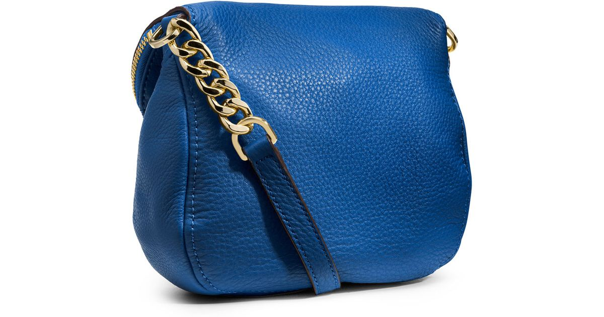 ... low price lyst michael michael kors bedford flap crossbody in blue  385b0 6d98d fbbe527a76f92