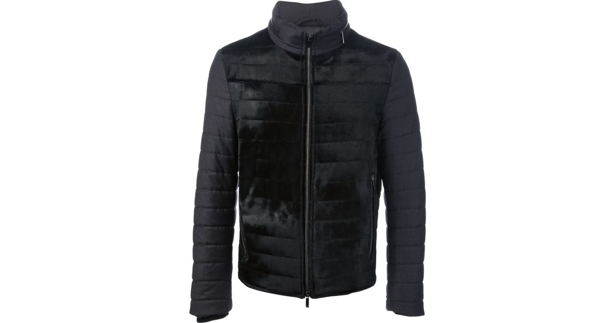 cd923582 Emporio Armani Black Quilted Puffer Jacket for men