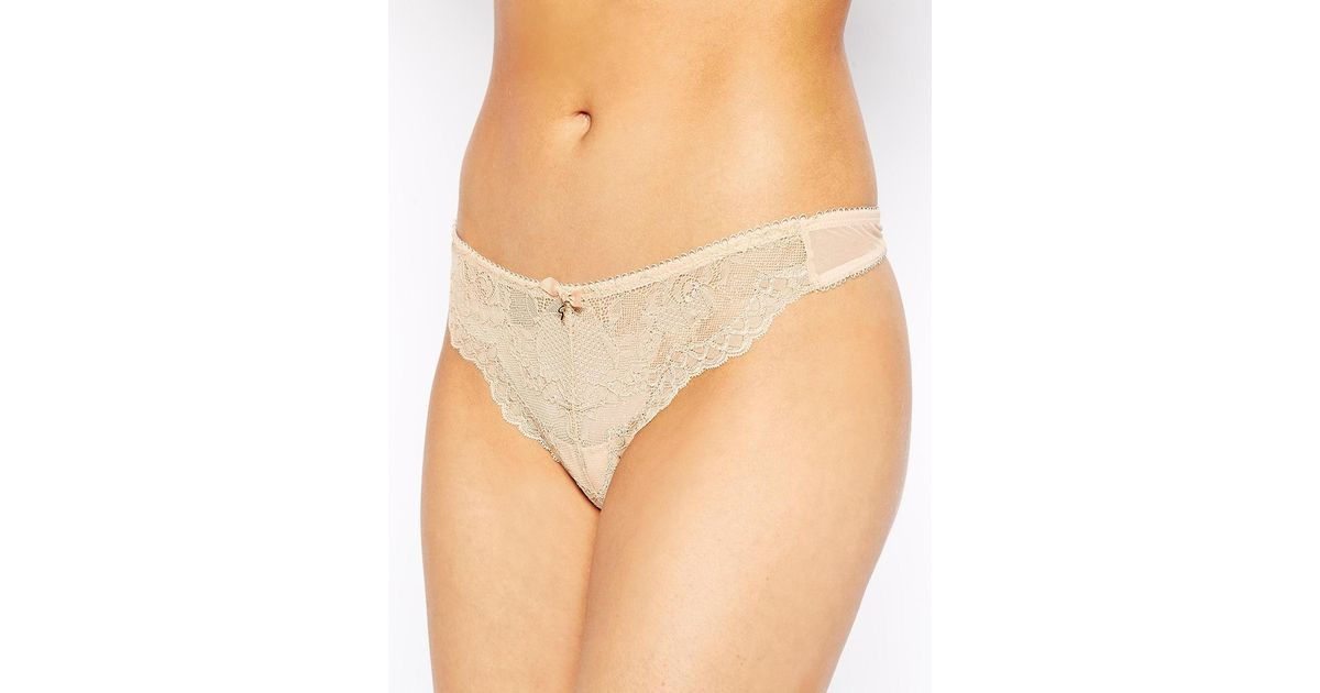 26767ca8edcb Gossard Superboost Lace Thong in Natural - Lyst