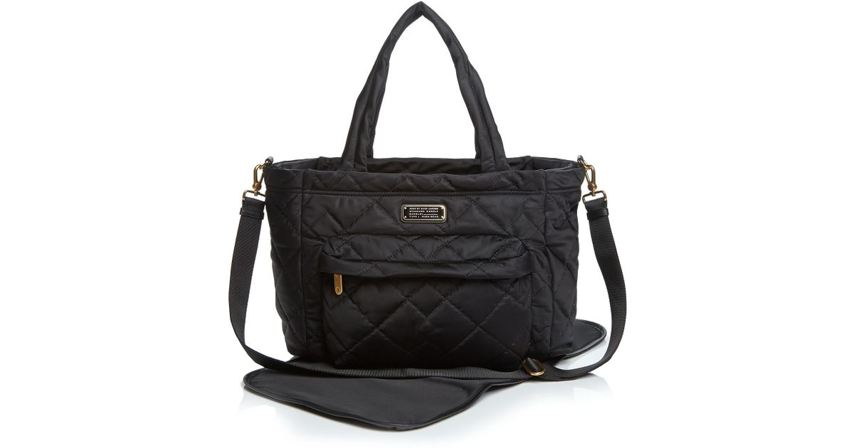 Lyst Marc By Jacobs Diaper Bag Crosby Quilt Nylon Elizababy In Black