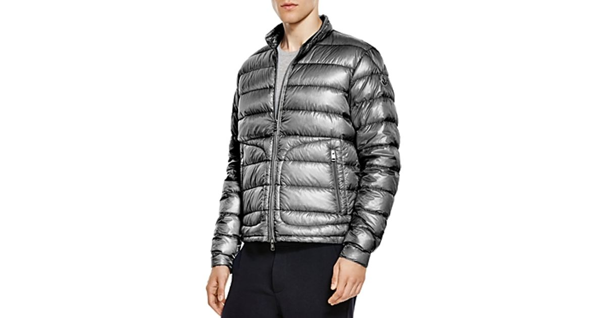 30b309aab Moncler Gray Acorus Quilted Down Jacket for men
