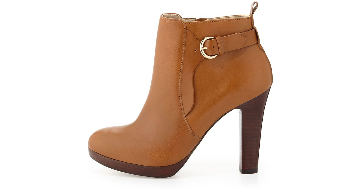 0426f8be79d4 Lyst - Neiman Marcus Spencer Leather Bootie in Brown