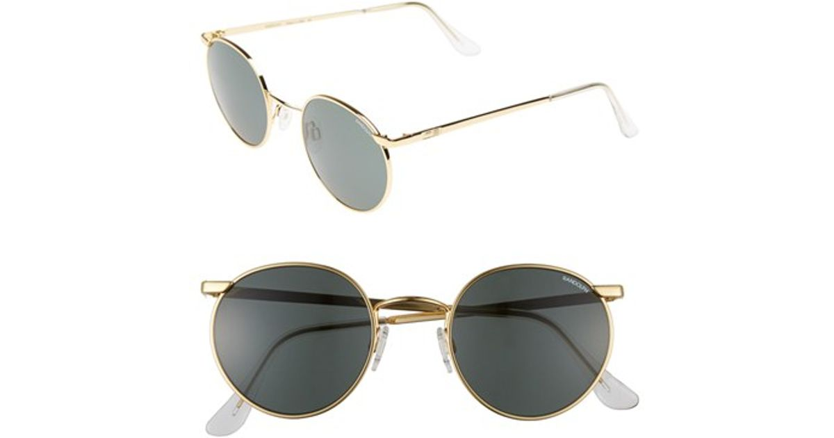 19aedc7269 Lyst - Randolph Engineering  p3  50mm Sunglasses - 23k Gold  Gray in  Metallic for Men