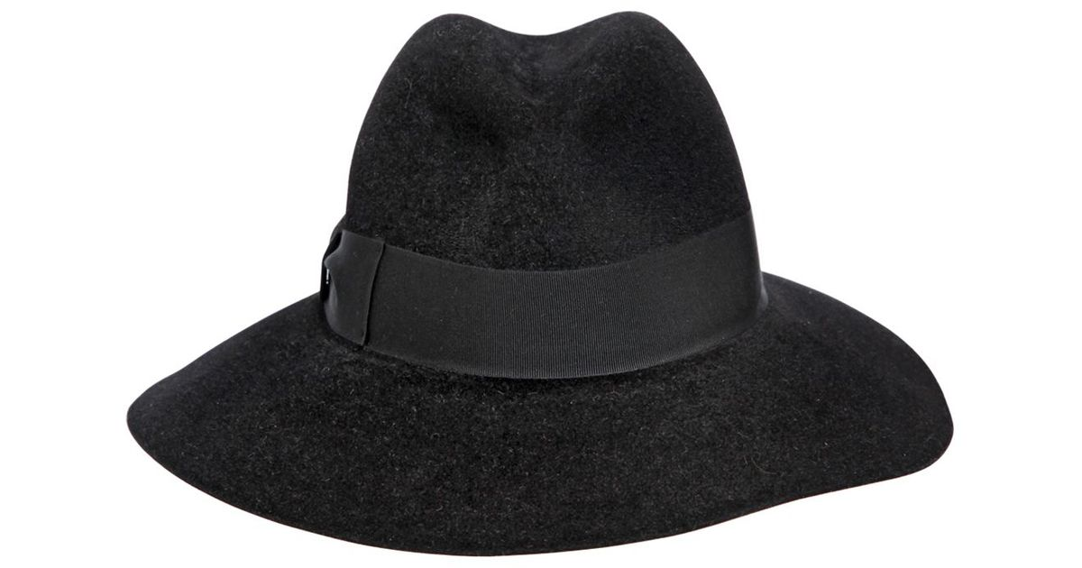69f10c5f292 Borsalino Lapin Fur Felt Wide Brim Hat in Black for Men - Lyst