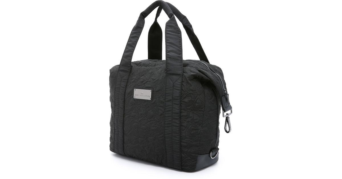 35c9e22f73e4 Lyst - adidas By Stella McCartney Small Gym Bag - Black in Black