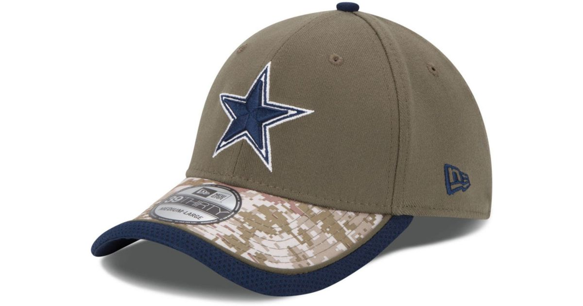 c7894856d88a46 KTZ Dallas Cowboys Salute To Service 39thirty Cap in Green for Men - Lyst