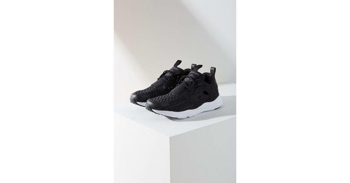 9035b65e84d77 Lyst - Reebok Furylite New Woven Sneaker in Black