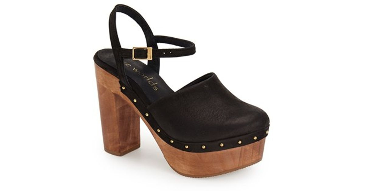 77390df186a Five Worlds Brown By Cordani 'taxo' Wooden Platform Clog Sandal