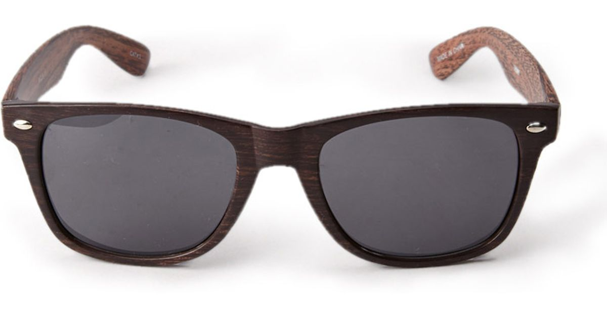 211472afae Fabulous Lyst - Forever 21 Wood Grain Wayfarer Sunglasses in Brown for Men  BB44