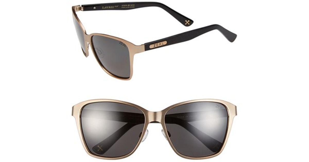 4727f0d0fb Lyst - Zeal Optics  laurel Canyon  57mm Retro Polarized Sunglasses - Laurel  Canyon Rose Gold in Pink